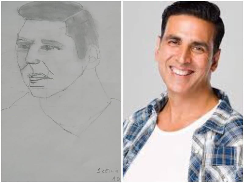 Akshay Kumar Reacted On Social Media To A Beautiful Sketch Made By A 10 Year Old Fan