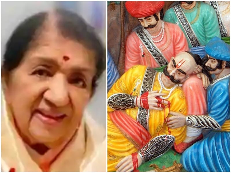 lata mangeshkar shares video of sarnar kadhi song on twitter
