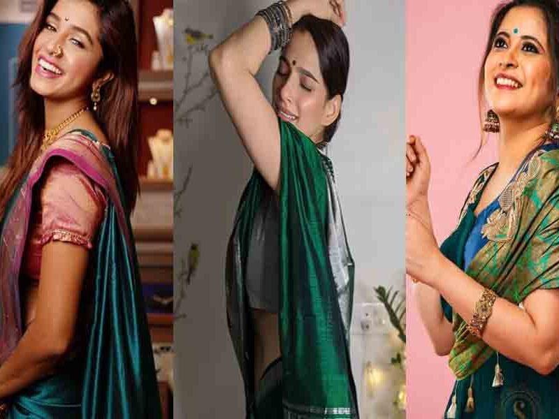 marathi actress navratri special colors