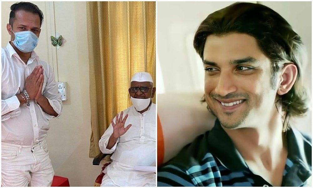sushants friend ganesh hiwarkar met anna hazare and discussed