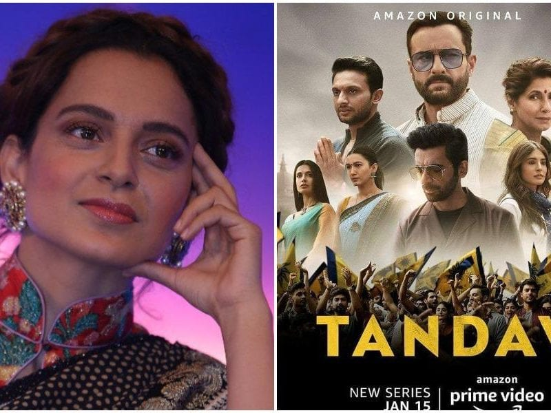 kangana ranaut deleted her tweet on tandav and defends herself
