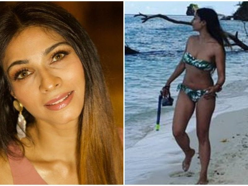 actress tanisha mukherjee share bikini pictures and fans got crazy