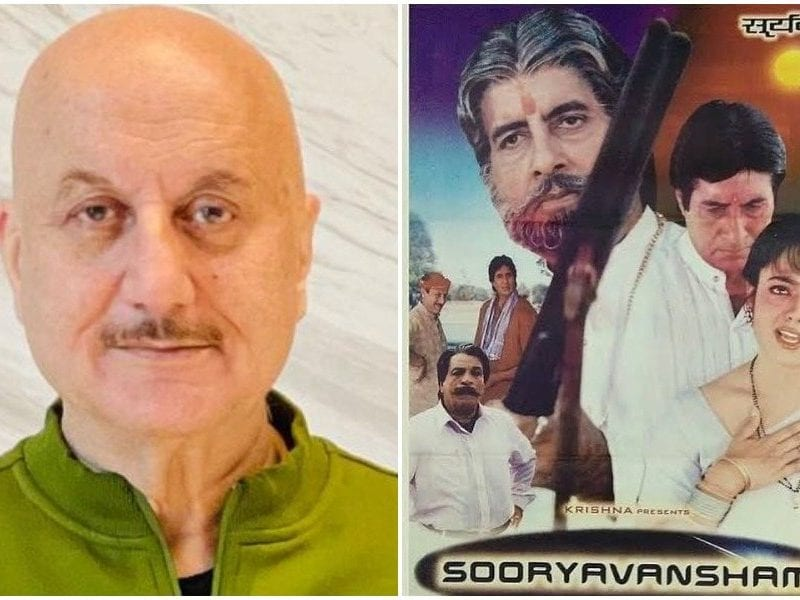 anupam kher replied to a channel showing sooryavansham