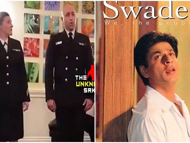 as us navy officer sings swades song shahrukh khan gets nostalgic